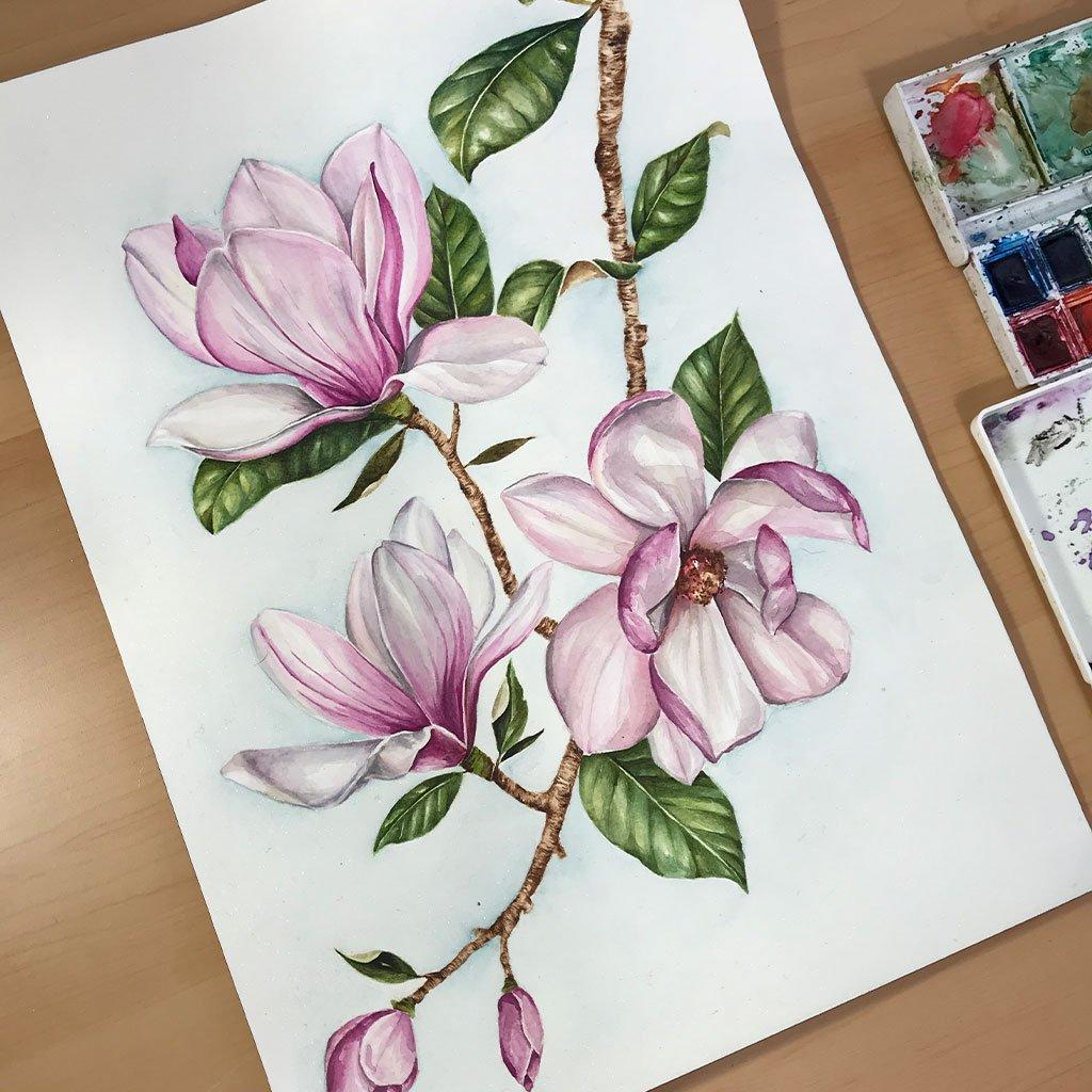 Magnolia Branch - 26x36cm - Paper 300g