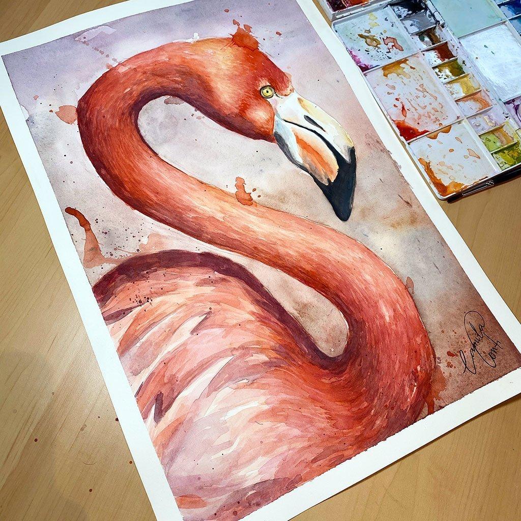 Flamingo - 31x46cm - Paper 300gsm