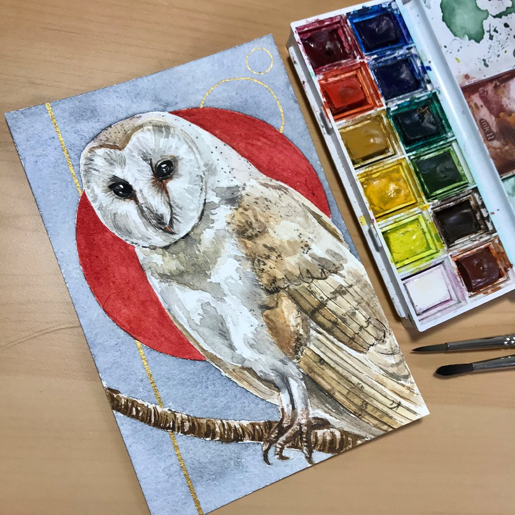 Birds of Ireland Collection - Barn Owl - 10x15cm (postcard) - Paper 300g