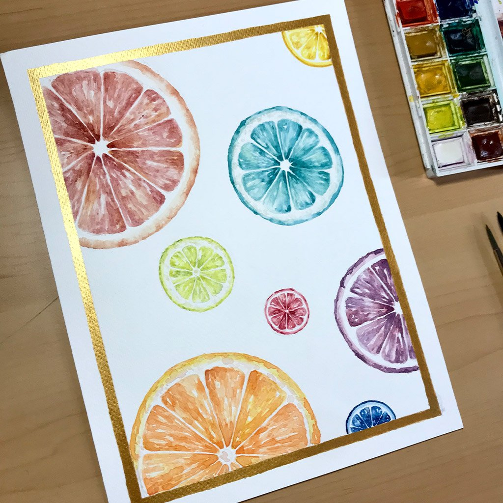 Tattoo Flashes Fruit Collection - Citrus - 18x24cm - Paper 300g