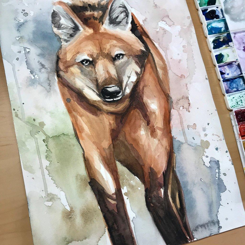 Maned Wolf - 26x36cm - Paper 300g