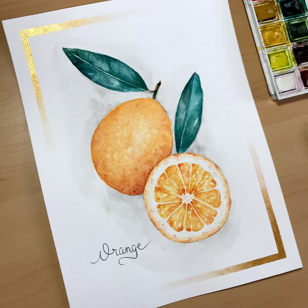 Tattoo Flashes Fruit Collection - Orange - 18x24cm - Paper 300g