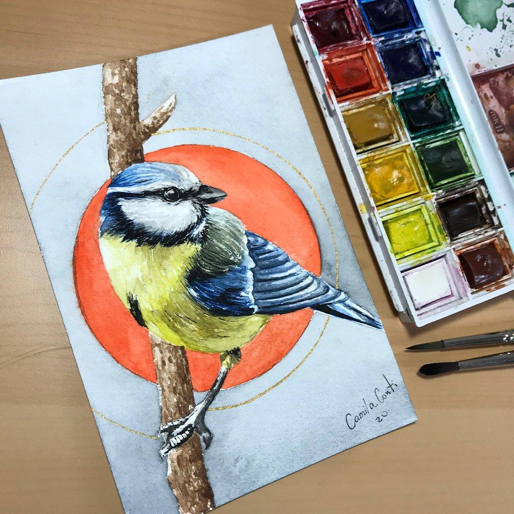 Birds of Ireland Collection - Tit Bird - 10x15cm (postcard) - Paper 300g